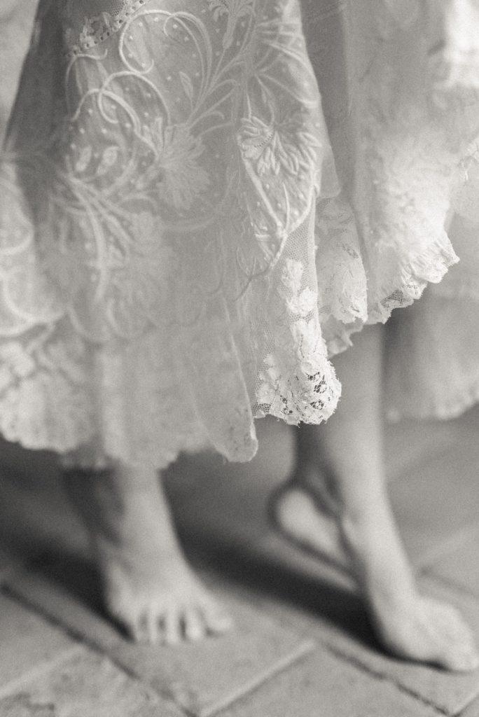 noir et blanc jupe en dentelle